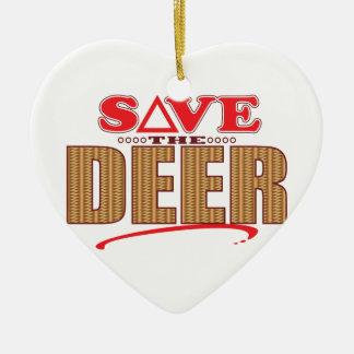 Deer Save Christmas Ornament