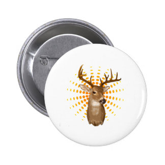 Deer season 6 cm round badge