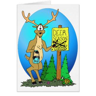 Deer Season Over Greeting Card
