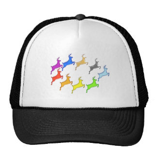 Deer Show -  Flight of Colorful Animals Mesh Hats