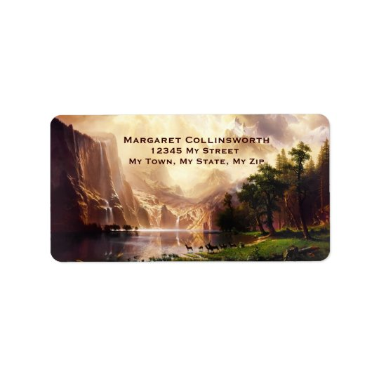 Deer Sierra Mountains 1868 Vintage Art Label