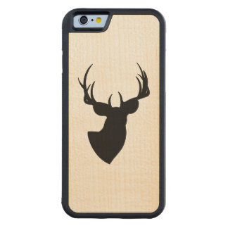 Deer Silhouette Carved Maple iPhone 6 Bumper Case