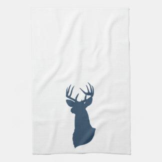 Deer Silhouette Kitchen Towel | {Navy}