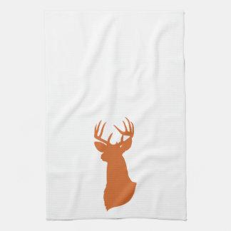 Deer Silhouette Kitchen Towel | {Orange}