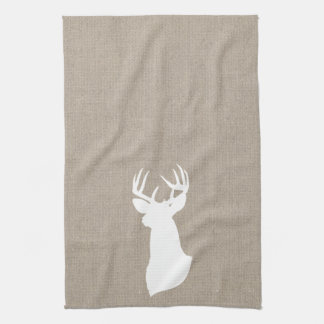 Deer Silhouette Kitchen Towel | {White & Burlap}