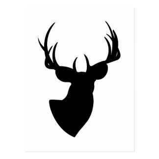 Deer Silhouette Postcard