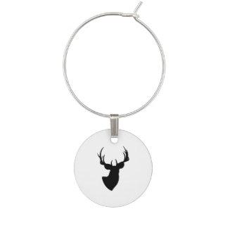 Deer Silhouette Wine Charm