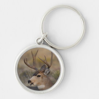 deer Silver-Colored round key ring