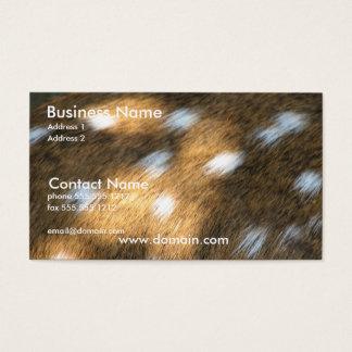 Deer Skin Print Business Card