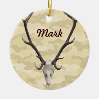 Deer Skull Name Ornament