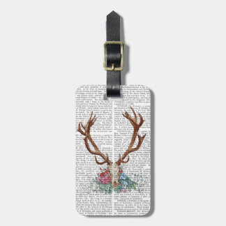 Deer Skull With Flowers 2 Luggage Tag