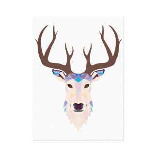 Deer stag canvas print
