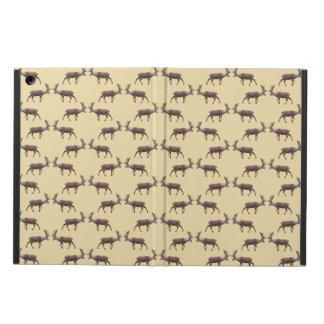 Deer Stag Pattern on Beige. iPad Air Case