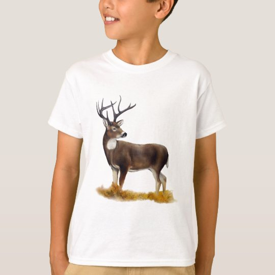 Deer standing alone on customisable products T-Shirt