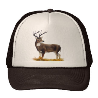 Deer standing alone on customizable products trucker hats