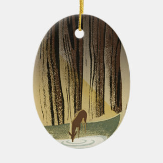 Deer & Stream Christmas Ornament