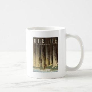 Deer & Stream Basic White Mug