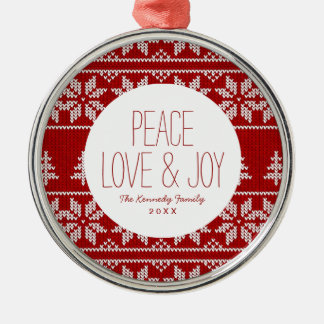 Deer Sweater Pattern Christmas Ornament