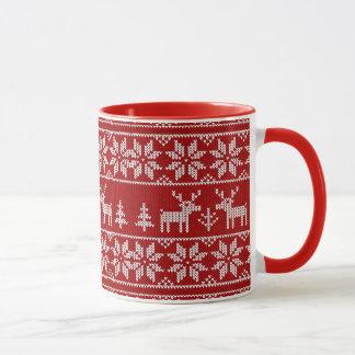 Deer Sweater Pattern Mug