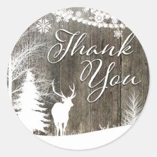 Deer thank you sticker