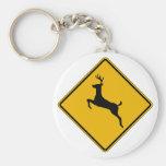 Deer Traffic, Traffic Warning Sign, USA Key Chains