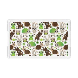 deer turtle bunny animal wallpaper acrylic tray