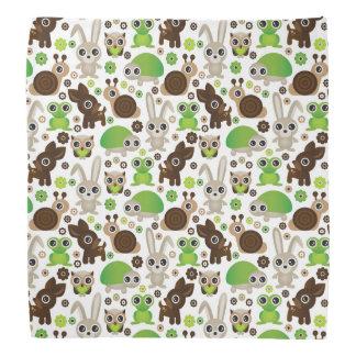 deer turtle bunny animal wallpaper bandana