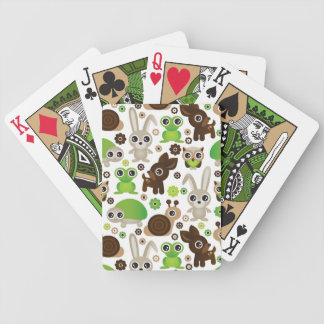 deer turtle bunny animal wallpaper bicycle playing cards