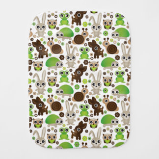 deer turtle bunny animal wallpaper burp cloth