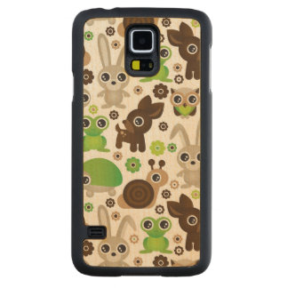 deer turtle bunny animal wallpaper carved maple galaxy s5 case