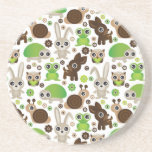 deer turtle bunny animal wallpaper coaster