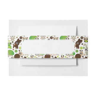 deer turtle bunny animal wallpaper invitation belly band