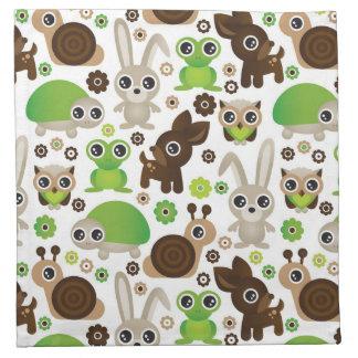 deer turtle bunny animal wallpaper napkin