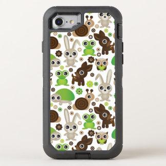 deer turtle bunny animal wallpaper OtterBox defender iPhone 7 case