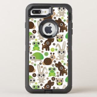 deer turtle bunny animal wallpaper OtterBox defender iPhone 8 plus/7 plus case
