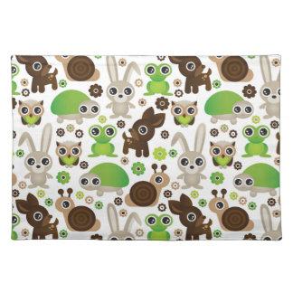 deer turtle bunny animal wallpaper placemat
