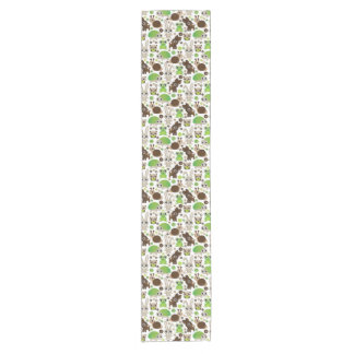 deer turtle bunny animal wallpaper short table runner