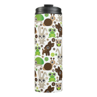 deer turtle bunny animal wallpaper thermal tumbler