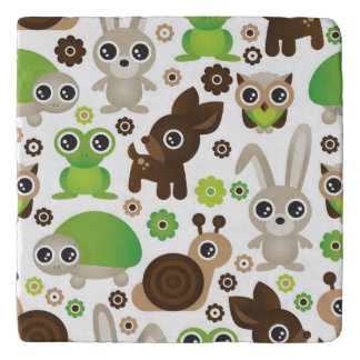 deer turtle bunny animal wallpaper trivet