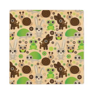 deer turtle bunny animal wallpaper wood coaster