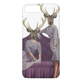 Deer Twins in Purple Dresses.jpg iPhone 8 Plus/7 Plus Case