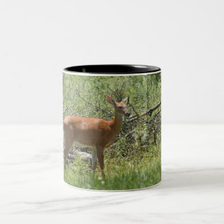 Deer Two-Tone Coffee Mug