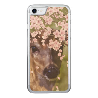 Deer Under Cherry Tree Carved iPhone 8/7 Case
