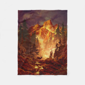 Deer Valley Small Fleece Blanket