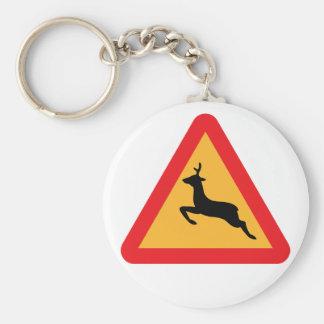 Deer Warning keychain
