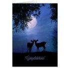 Deer Wildlife Animal Congratulations Cute Wedding Card