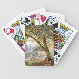 Deer Wildlife Animals Park Tree Lake Playing Cards