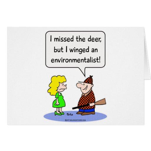 deer winged environmentalist card