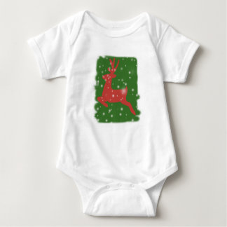 Deer Winter Holidays Baby Jersey Bodysuit