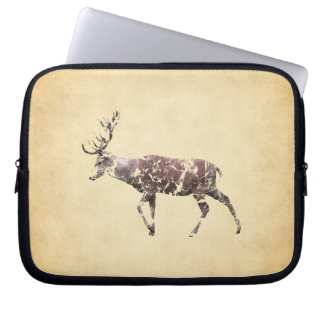 Deer with a Grungy Look Laptop Sleeve